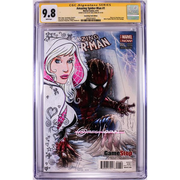 Marvel Comics Amazing Spider-Man #1 Comic Book CGC 9.8 Signed & Sketched by Greg Horn