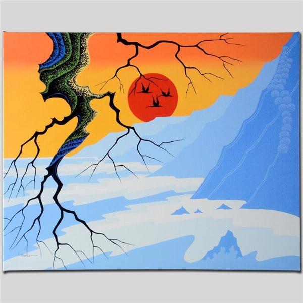 "Larissa Holt ""Sun Over Cliffs"" Limited Edition Giclee On Canvas"