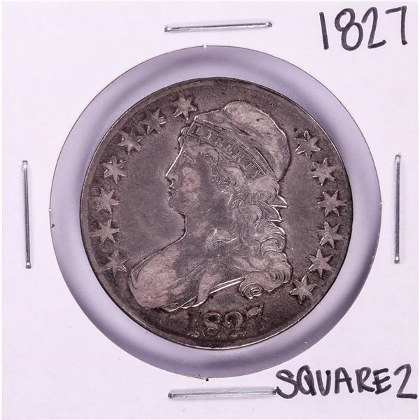 1827 Square 2 Capped Bust Half Dollar Coin