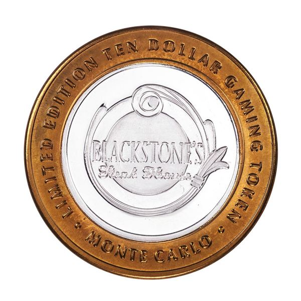 .999 Silver Monte Carlo Resort & Casino Las Vegas, NV $10 Limited Edition Gaming Token