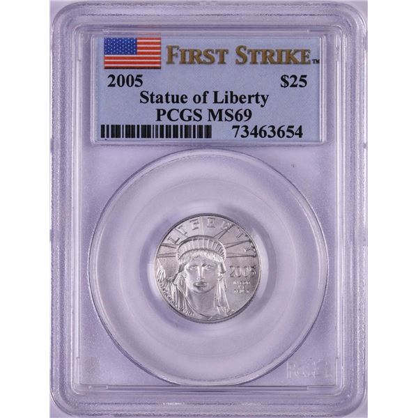 2005 $25 Platinum American Eagle Coin PCGS MS69 First Strike