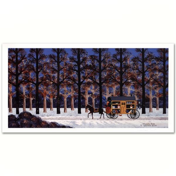 """Jane Wooster Scott """"A Lonely Trek"""" Limited Edition Lithograph On Paper"""