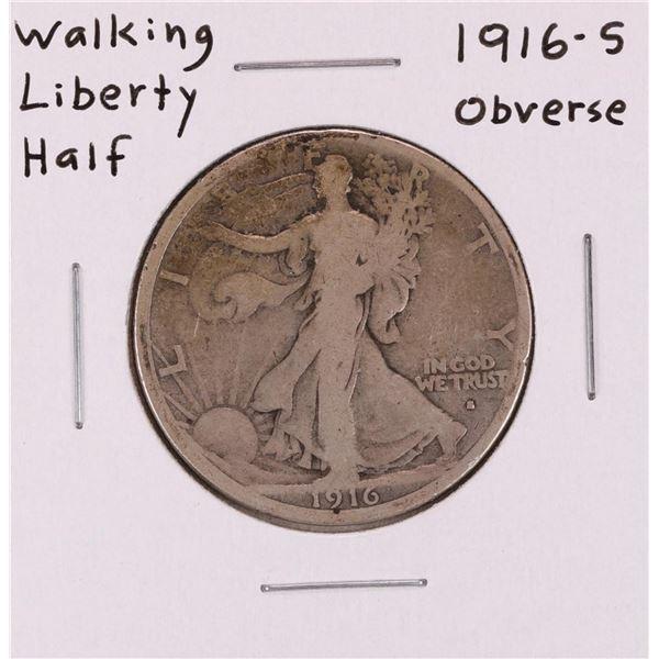 1916-S Obverse Walking Liberty Half Dollar Coin