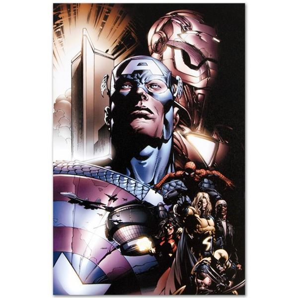 """Marvel Comics """"New Avengers #6"""" Limited Edition Giclee On Canvas"""