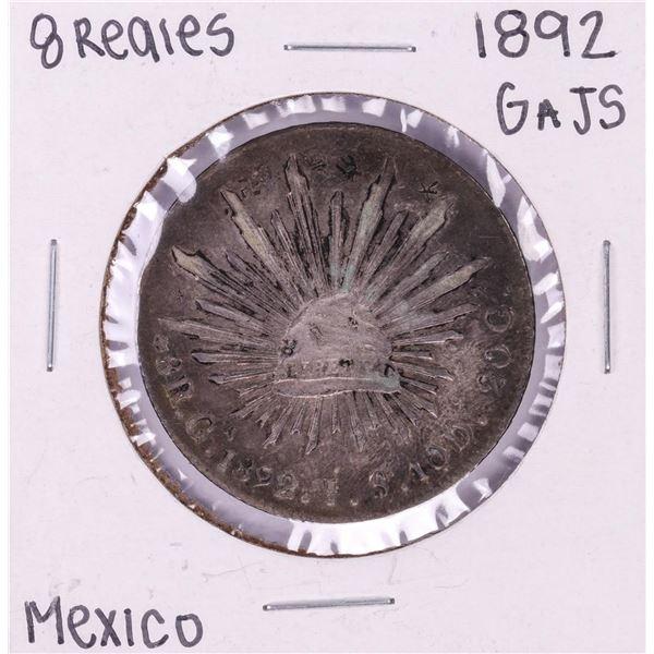 1892 Ga JS Mexico 8 Reales Silver Coin