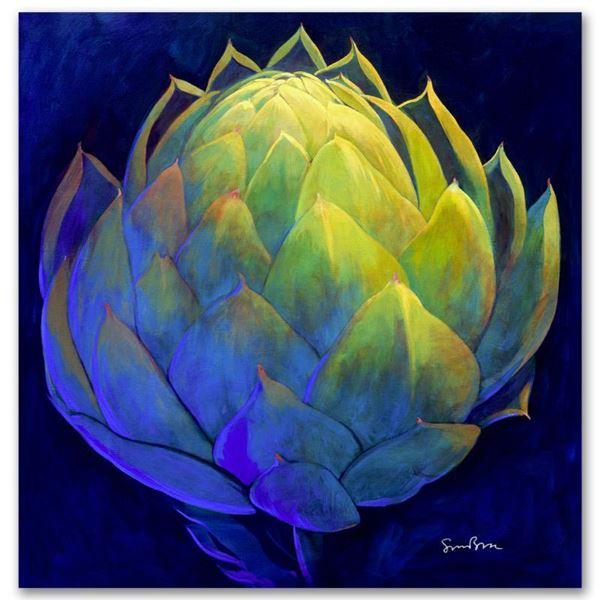 "Simon Bull ""Green Heart"" Limited Edition Giclee On Canvas"