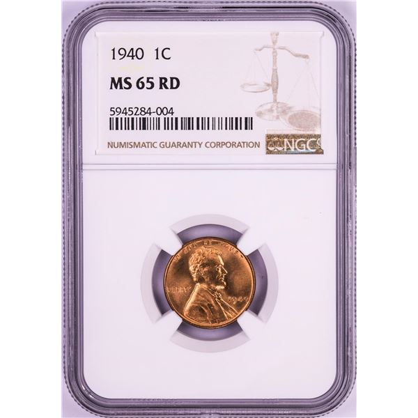 1940 Lincoln Wheat Cent Coin NGC MS65RD