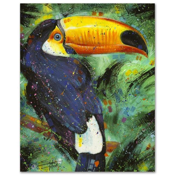"""Stephen Fishwick """"Toucan"""" Limited Edition Giclee On Canvas"""