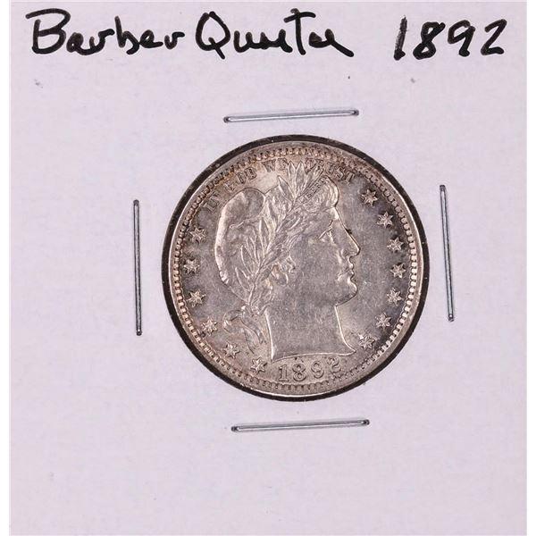 1892 Barber Quarter Coin
