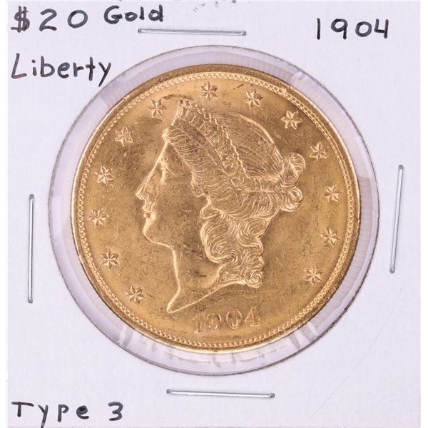 1904 Type 3 $20 Liberty Head Double Eagle Gold Coin