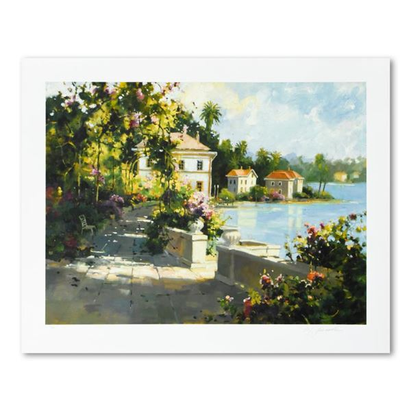 """Marilyn Simandle """"Riviera Walk"""" Limited Edition Giclee On Paper"""