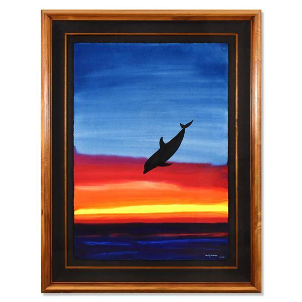 "Wyland ""Sea Of Life"" Original Watercolor On Paper"