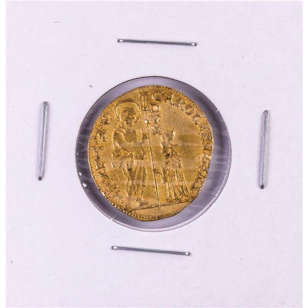 1732-1735 Italy Venice Carol Rvzini Zecchino Gold Coin