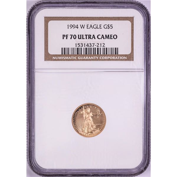 1994-W $5 Proof American Gold Eagle Coin NGC PF70 Ultra Cameo