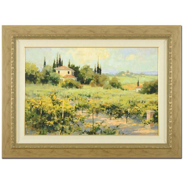 """Marilyn Simandle """"The Vineyard"""" Limited Edition Giclee On Canvas"""