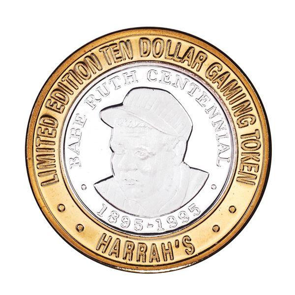 .999 Silver Harrahs Reno, Nevada $10 Casino Limited Edition Gaming Token