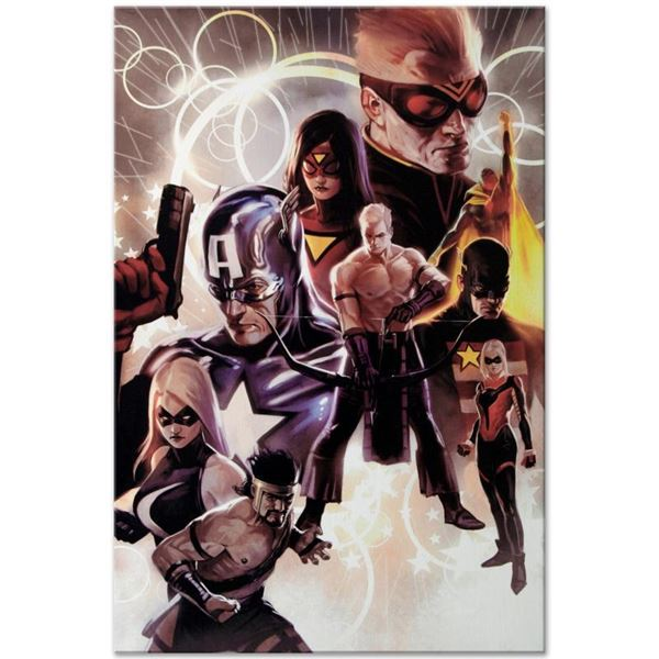 """Marvel Comics """"The Mighty Avengers #30"""" Limited Edition Giclee On Canvas"""