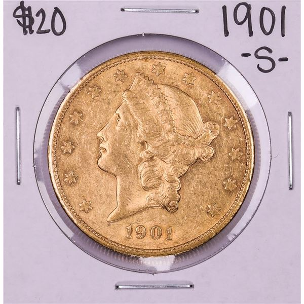 1901-S $20 Liberty Head Double Eagle Gold Coin