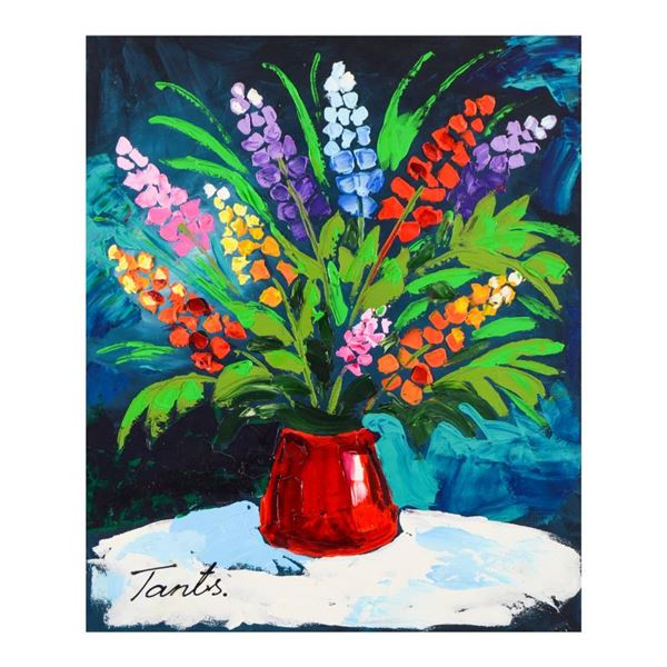 Lena Tants Original Acrylic Painting On Canvas Hand Signed With Letter Of Authenticity