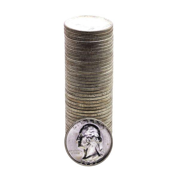 Roll of (40) Brilliant Uncirculated 1957 Washington Quarter Coins
