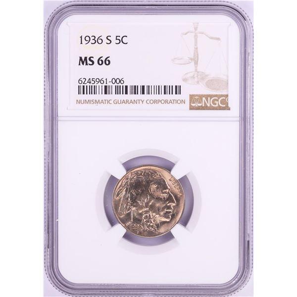 1936-S Buffalo Nickel Coin NGC MS66