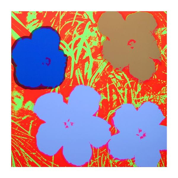 """Andy Warhol """"Flowers 1169"""" Print Serigraph On Paper"""