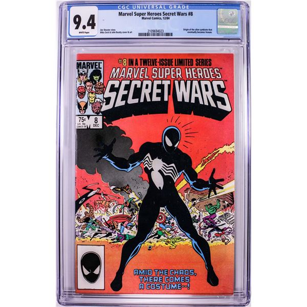 Marvel Comics Marvel Super Heroes Secret Wars #8 Comic Book 12/84 CGC 9.4