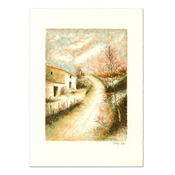 """Pierre Mas """"Street Scene"""" Limited Edition Lithograph On Paper"""