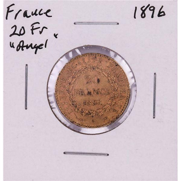 1896 France 20 Francs Angel Gold Coin
