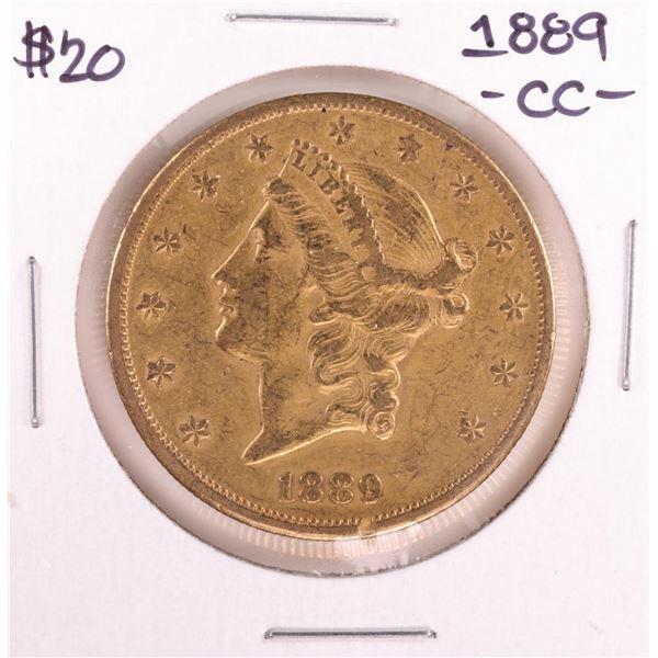 1889-CC $20 Liberty Head Double Eagle Gold Coin