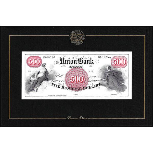 1994 American Bank Note Company Intaglio Print Union Bank Augusta, GA