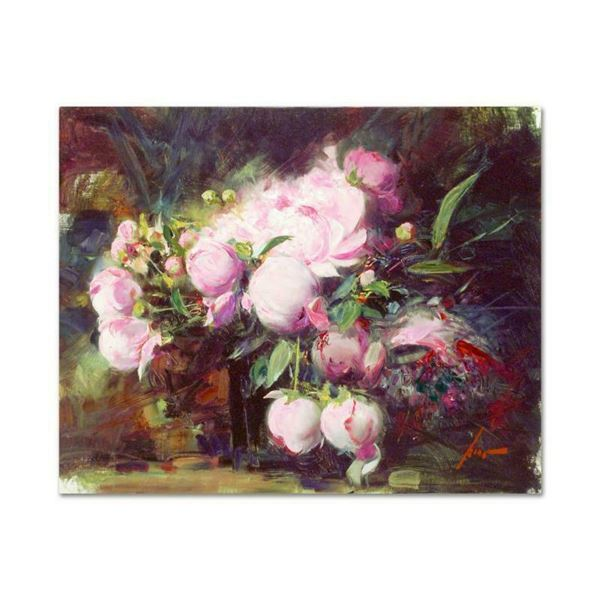 """Pino (1939-2010) """"Peonies"""" Limited Edition Giclee On Canvas"""