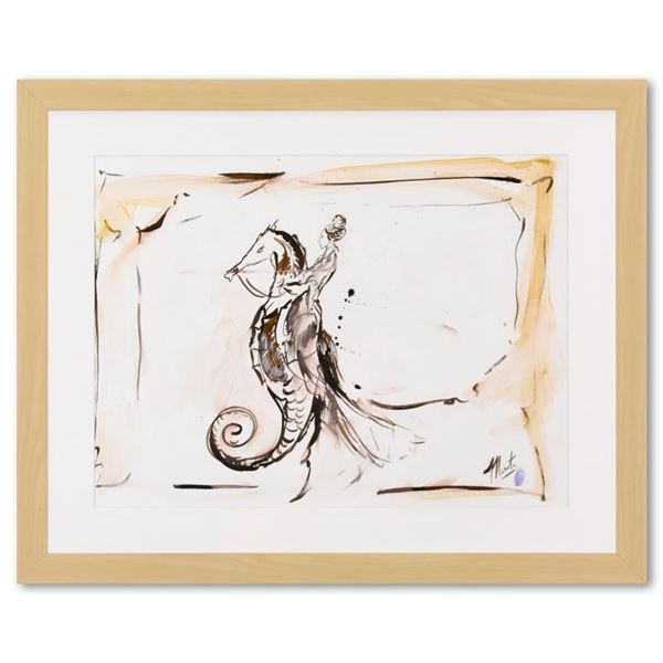 Marta Wiley Framed Original Mixed Media Painting, Hand Signed