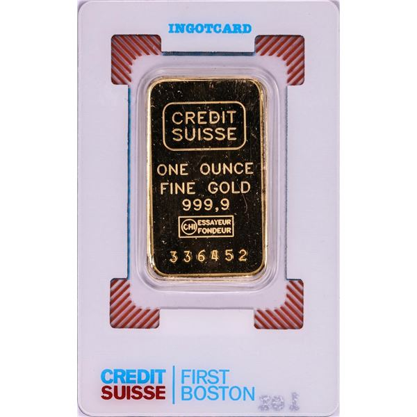 Credit Suisse One Ounce Fine Gold Bar