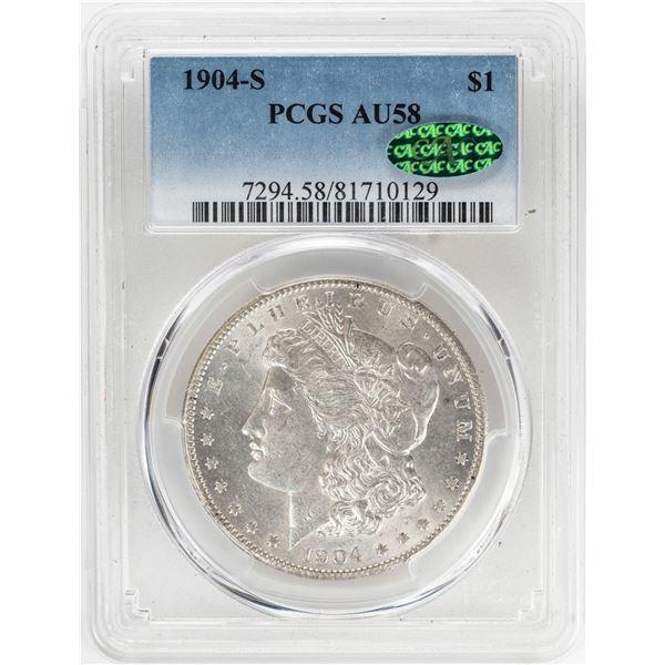 1904-S $1 Morgan Silver Dollar Coin PCGS AU58 CAC