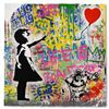 """Image 1 : Mr. Brainwash """"Balloon Girl"""" One-of-a-Kind Hand Signed Original Mixed Media"""