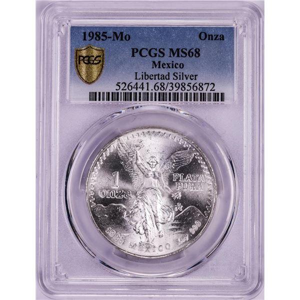 1985-Mo Mexico Onza Libertad Silver Coin PCGS MS68