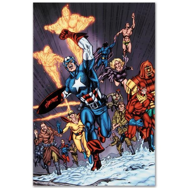 """Marvel Comics """"Avengers/Invader #11"""" Limited Edition Giclee On Canvas"""