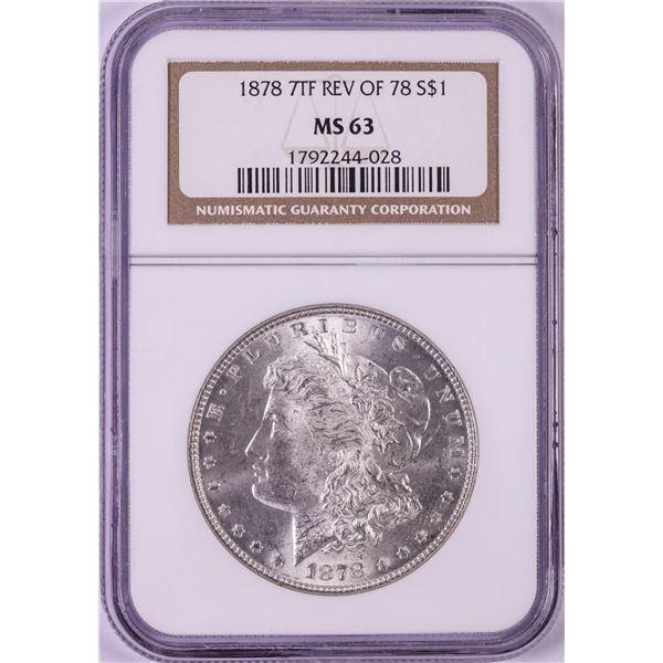1878 7TF Reverse of 78 $1 Morgan Silver Dollar Coin NGC MS63