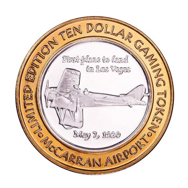 .999 Silver McCarran International Airport $10 Casino Limited Edition Gaming Token