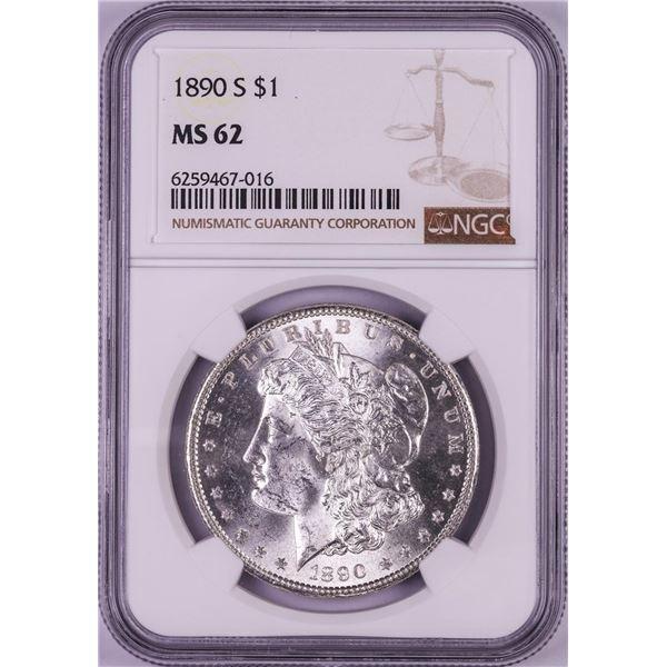 1890-S $1 Morgan Silver Dollar Coin NGC MS62