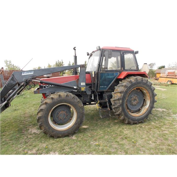 Case IH Model 1594 Tractor with Ezee On Front end Loader  - 3783 Hours Showing -  + Bale Fork Attach