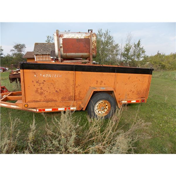 """Heavy Duty Transport Trailer - 79"""" W x 135"""" L, 46"""" High sides, Tilt Deck with Pintle Hitch"""