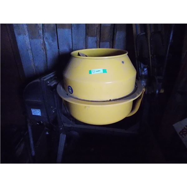 Power Fist Cement Mixer on Wheeled Stand