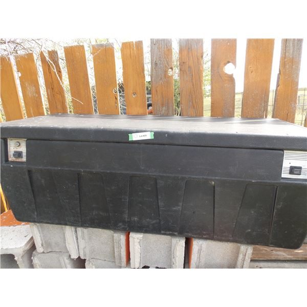 "Black Plastic Truck Bed Toolbox 51"" Long"