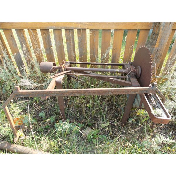 Vintage Belt Driven Saw Mill on Stand