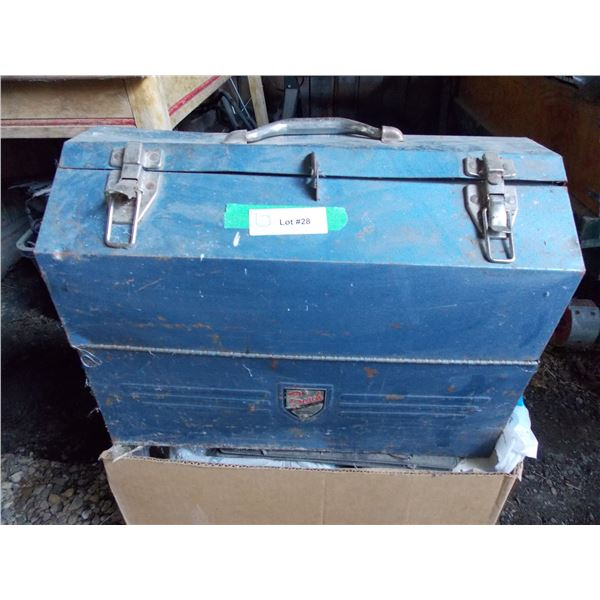 Larger Size Beach Accordian Toolbox Full of Parts, etc