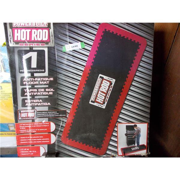 Hot Rod Four Piece Anti-Fatigue floor mat set - NEW in box