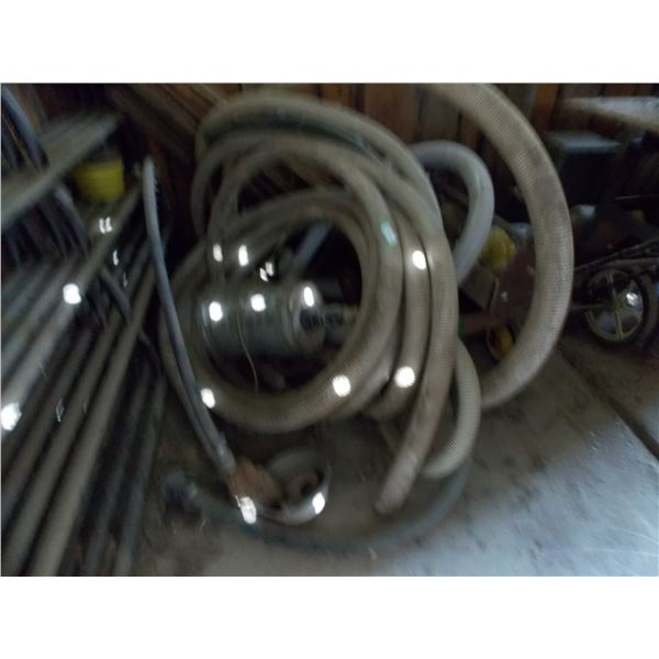 Length of water hose and attached pump (untested)