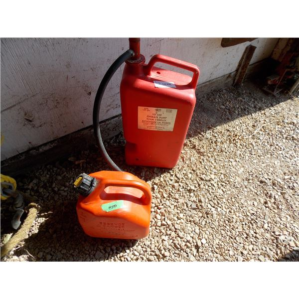 Pair of Plastic Jerry Fuel Cans
